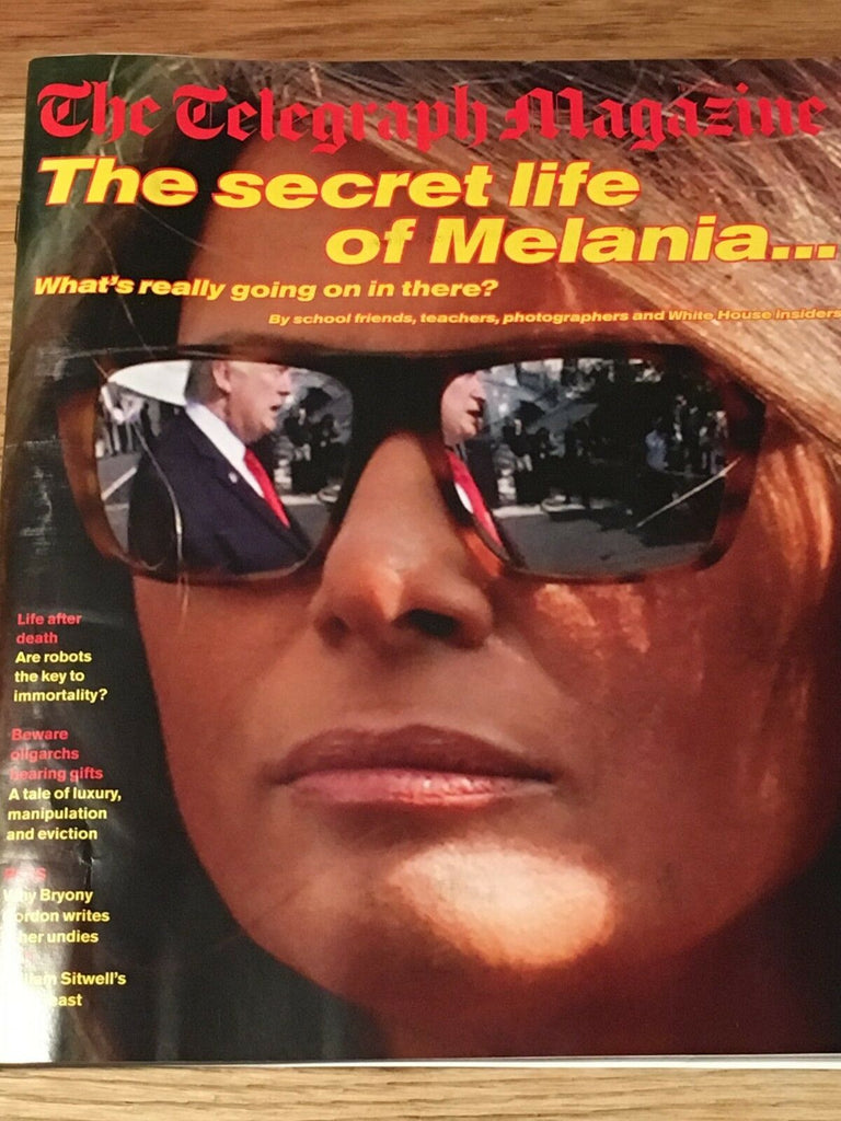 MELANIA TRUMP interview DONALD UK 1 DAY ISSUE - JANUARY 2019 NICK RHODES