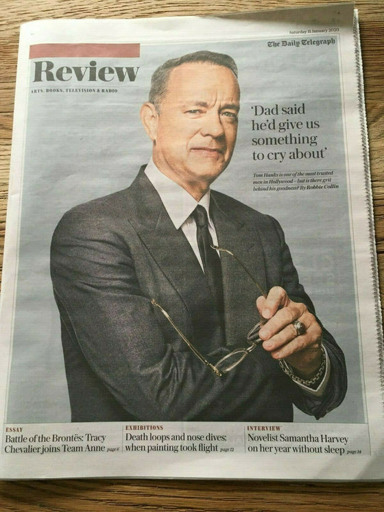 UK Telegraph Review January 2020 TOM HANKS Matthew Rhys DAVID TENNANT Good Omens