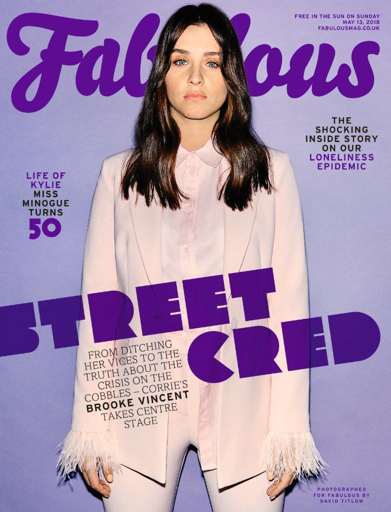 UK FABULOUS Magazine May 2018 Brooke Vincent Kylie Minogue Tiffany Darwish