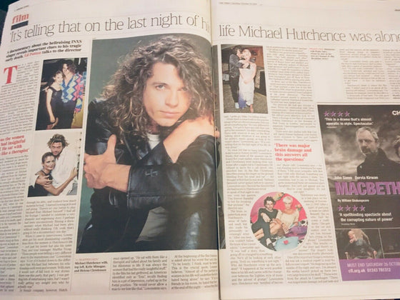 TIMES REVIEW supplement 20 October 2019: MICHAEL HUTCHENCE INXS Lucian Freud