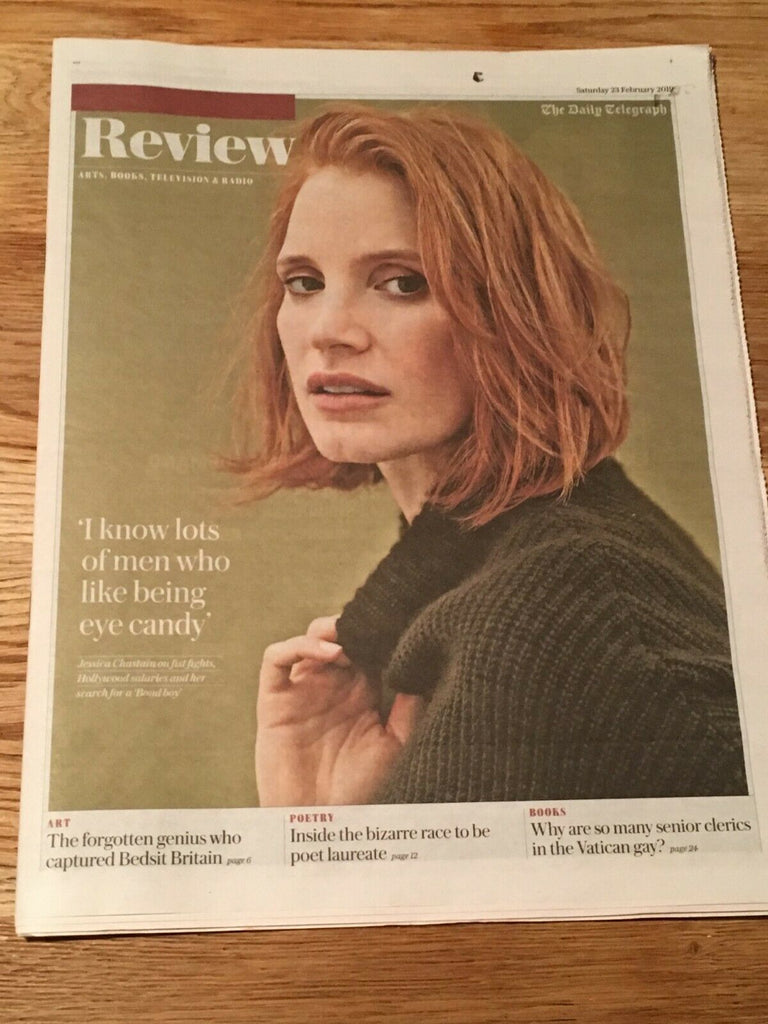 UK Telegraph Review Feb 2019: JESSICA CHASTAIN COVER FEATURE