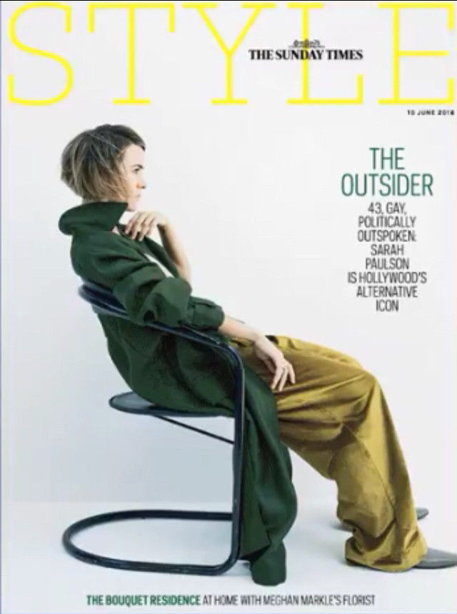 UK Style Magazine June 2018: SARAH PAULSON COVER INTERVIEW