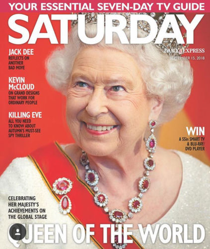 Saturday Magazine Sept 15 2018: THE QUEEN Shirley Eaton JODIE COMER Jane Danson