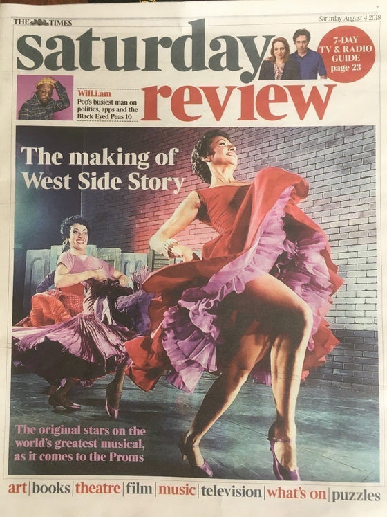 UK TIMES Review August 2018: Making West Side Story (Carol Lawrence) JIMMY PAGE
