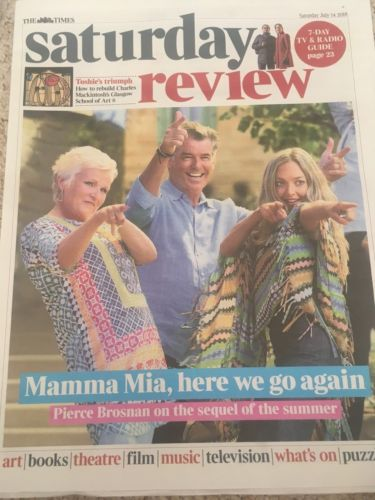 UK Times Review 14 July 2018: Pierce Brosnan (Mamma Mia) Rick Astley Duran Duran