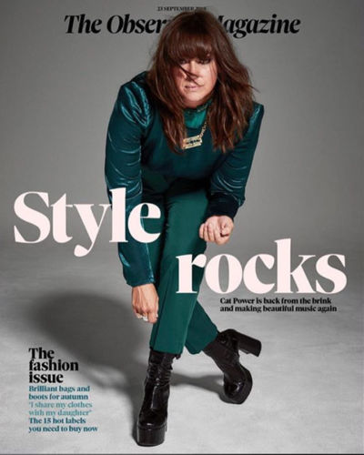 UK Observer magazine 23 September 2018: CAT POWER COVER STORY