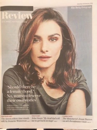 UK Telegraph Review February 2018 Rachel Weisz John Simm Courtney Marie Andrews