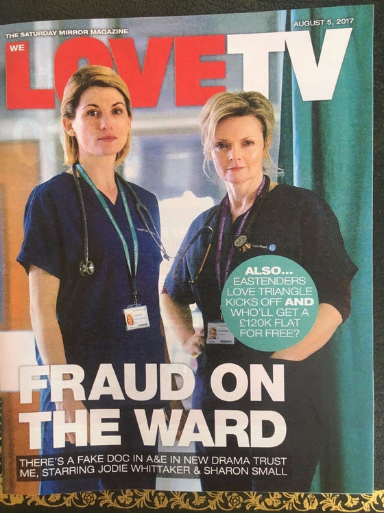 Love TV Magazine August 2017 Jodie Whittaker Sharon Small Chris Chittell