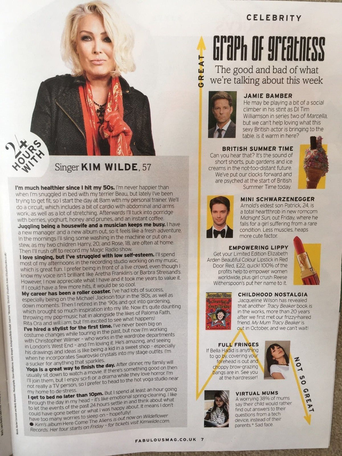 UK Fabulous MAGAZINE March 2018 KIM WILDE ALAN FLETCHER