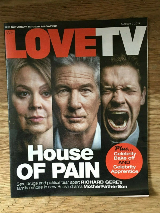 UK LOVE TV Mag 03/2019: BILLY HOWLE Sarah Lancashire HELEN McCRORY Richard Gere