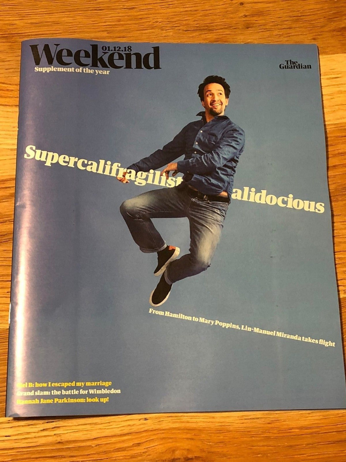 Guardian Weekend Magazine 1 Dec 2018 Lin-Manuel Miranda Katherine Jenkins Mel B