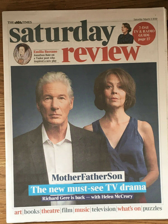 UK Times Review MAR 2019: RICHARD GERE & HELEN McCRORY COVER FEATURE - The Foals
