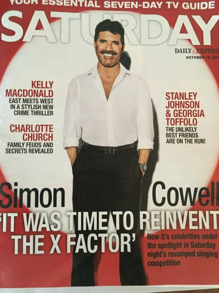 SATURDAY Magazine 10/2019: SIMON COWELL Killian Scott ROBIN COLVILL Grumbleweeds
