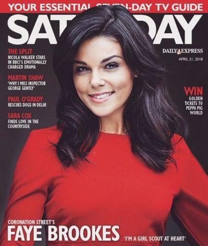 UK SATURDAY Magazine APR 2018: FAYE BROOKES Martin Shaw DAWN FRENCH Laura Main