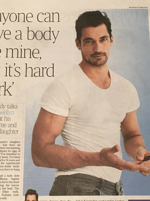 UK Times Weekend January 2019: DAVID GANDY Male Model Hunk PHOTO INTERVIEW