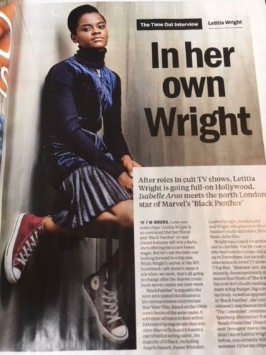 UK Time Out Magazine February 2018 Letitia Wright Robert Smith Jeremy Irons