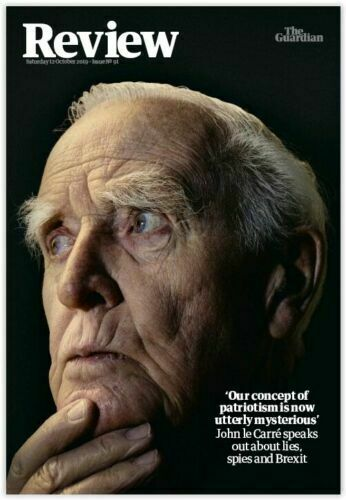 GUARDIAN REVIEW magazine Oct 2019: JOHN LE CARRE (James Bond) Cover + Interview