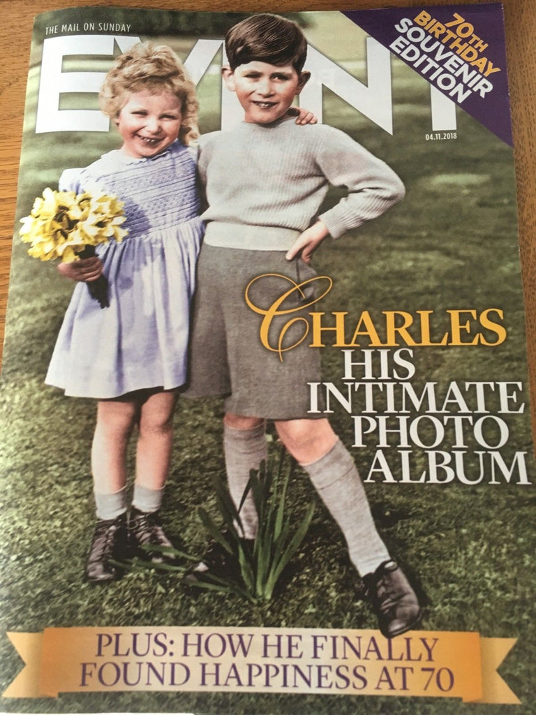 Daily Mail Event Magazine 4 November 2018 Prince Charles 70th Birthday Special
