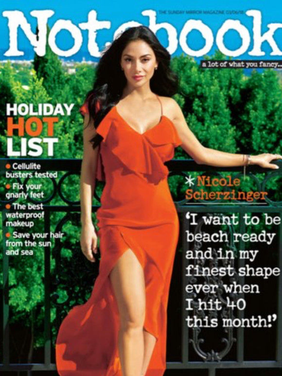 NICOLE SCHERZINGER PHOTO COVER INTERVIEW UK NOTEBOOK MAGAZINE JUNE 2018