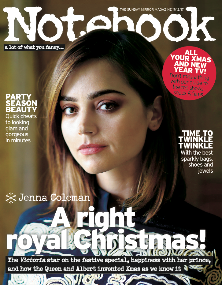UK Notebook Magazine 17 December 2017 Jenna Coleman Hugh Jackman Adrian Schiller