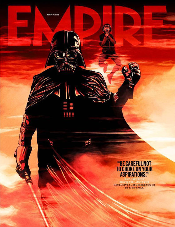 Empire Magazine March 2018 STAR WARS DARTH VADER LTD EDITION SUBSCRIBER COVER