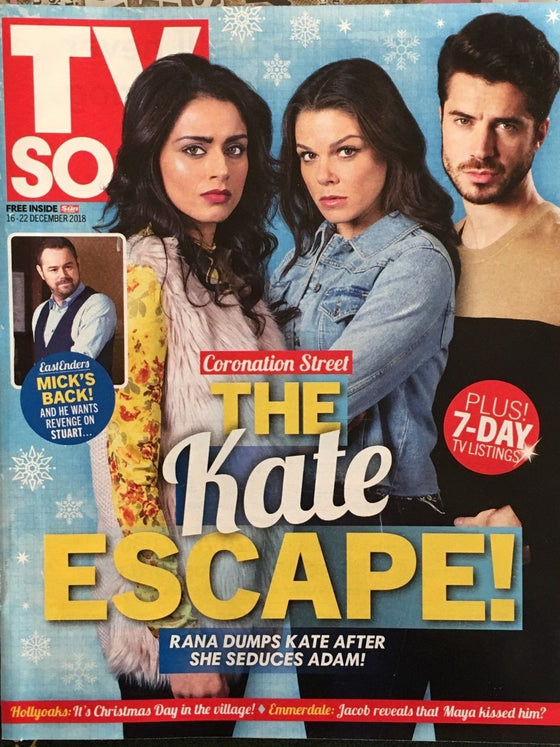 TV Soap Magazine 16 Dec 2018 Sam Robertson Faye Brookes Charley Webb Connie Hyde