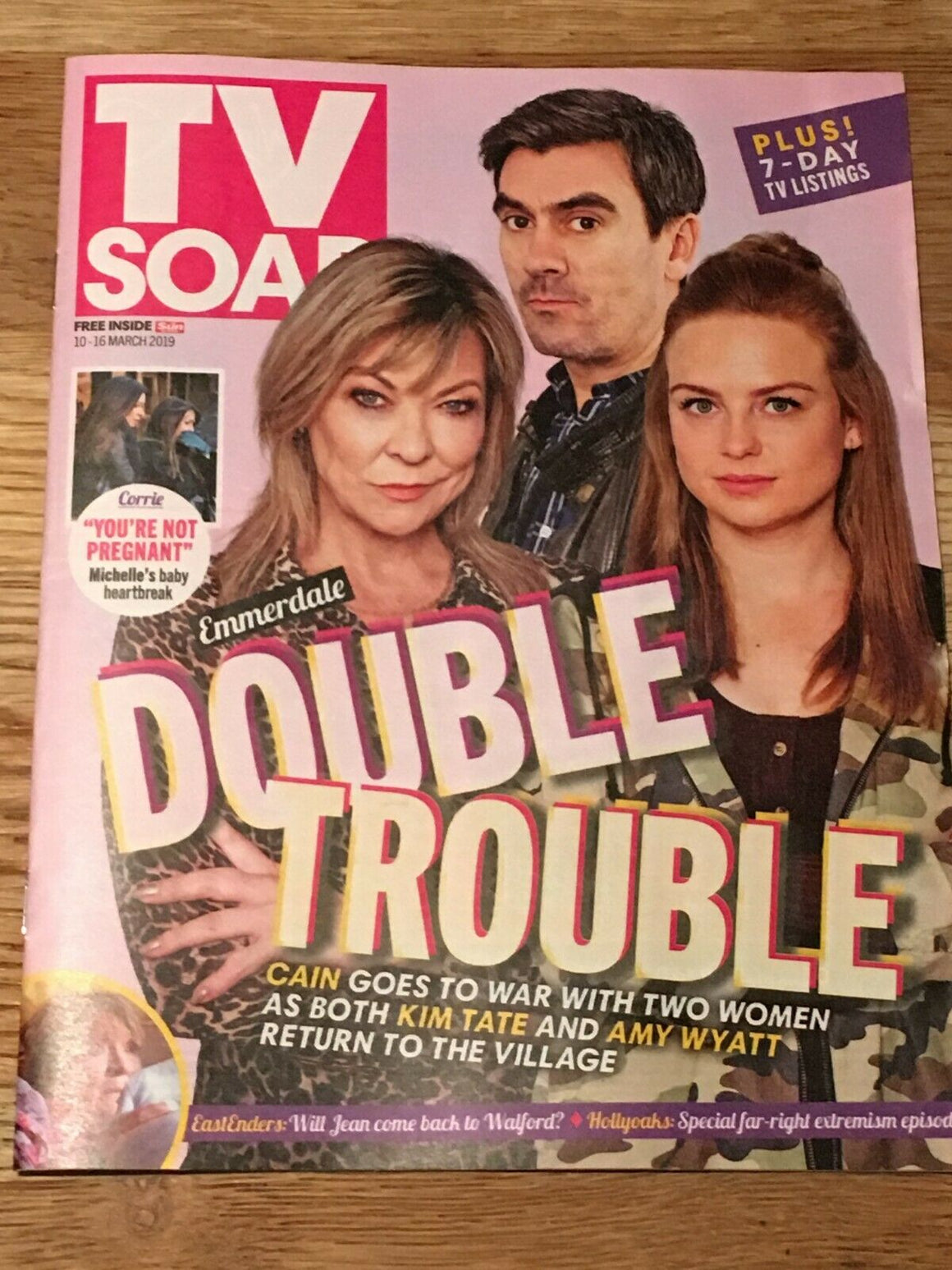 TV Soap Magazine 10 March 2019: CLAIRE KING FAYE BROOKES Natalie Ann Jamieson