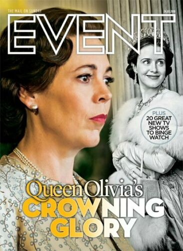 UK Event Magazine March 2019: THE CROWN Tobias Menzies JOSH O'CONNOR Paul Young
