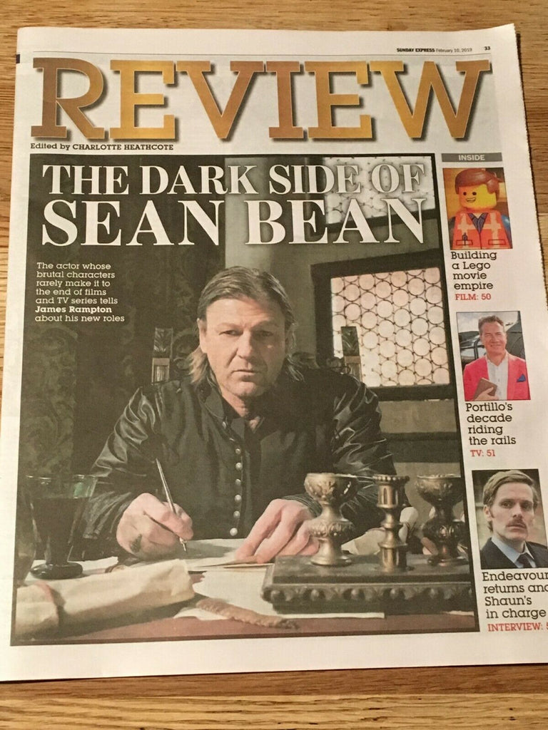 UK Express Review 10 Feb 2019: SEAN BEAN COVER STORY