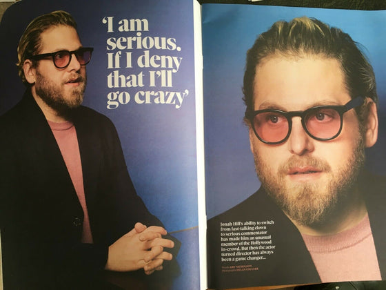 UK Observer Magazine March 2019: DIANA RIGG PHOTO INTERVIEW - JONAH HILL feature