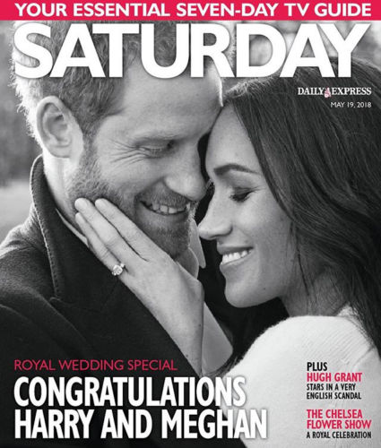SATURDAY 05/2018: ROYAL WEDDING Meghan Markle KATHERINE JENKINS Ben Whishaw