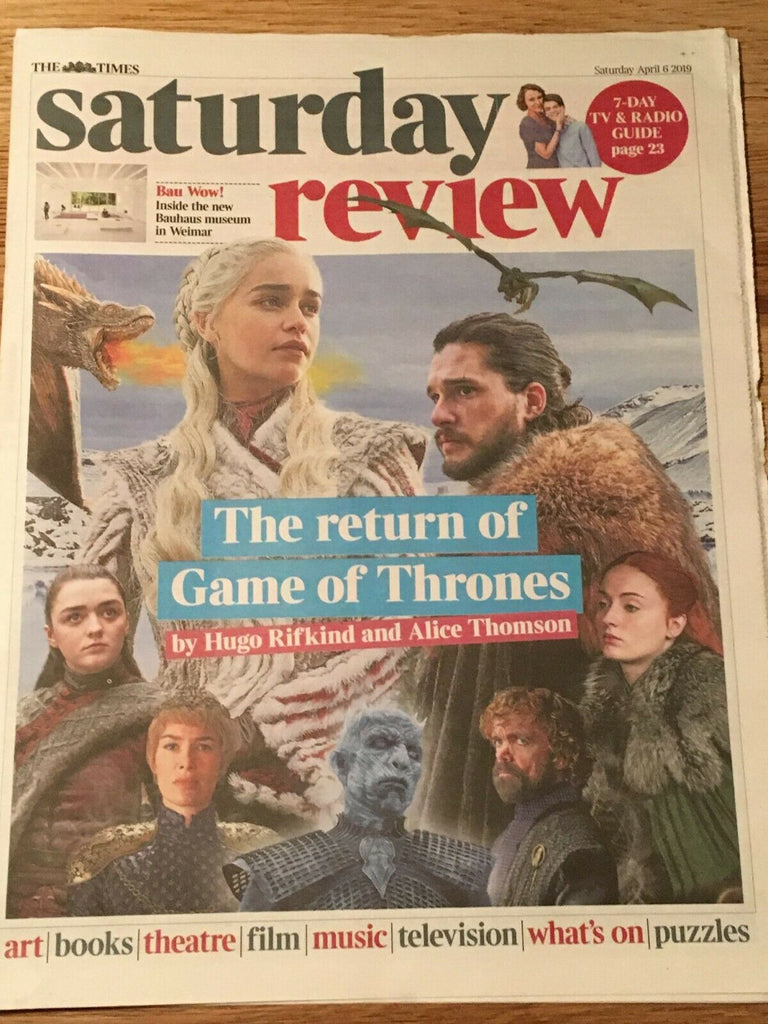 UK Times Review April 2019 Game Of Thrones (GOT) cover & feature - Lena Headey