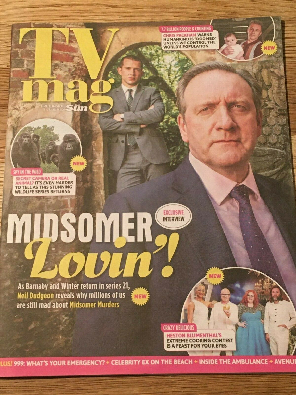 SUN TV Magazine 01/2020: NEIL DUDGEON Midsomer Murders EMMA ATKINS