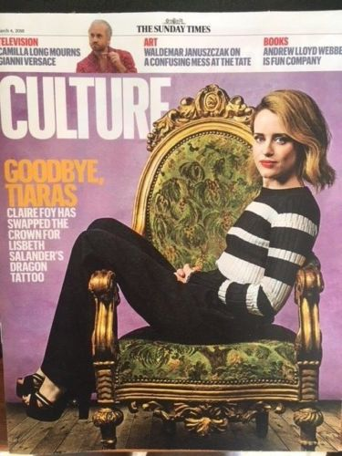 CULTURE Magazine MAR 2018: CLAIRE FOY COVER & FEATURE Tracey Thorn DAVID TENNANT