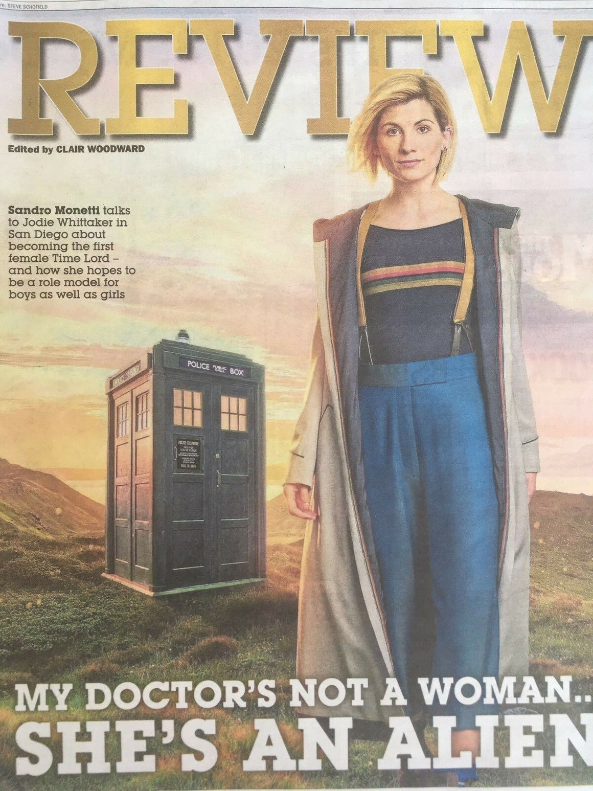 UK EXPRESS REVIEW July 2018: JODIE WHITTAKER (DOCTOR WHO) COVER FEATURE