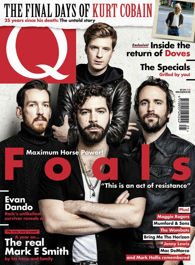 UK Q Magazine MAY 2019: FOALS Nirvana KURT COBAIN Mark Hollis OLI SYKES BMTH
