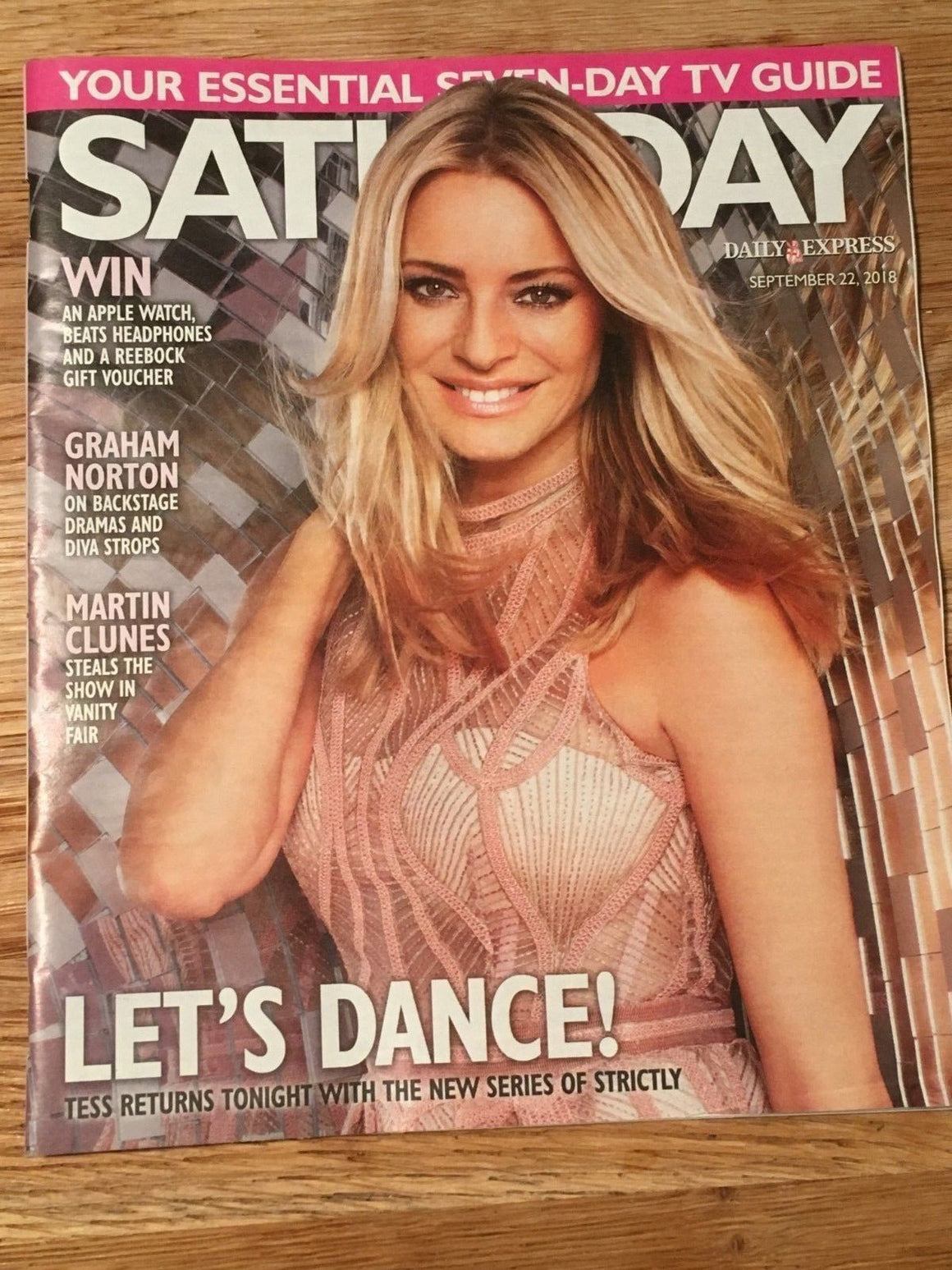 UK SATURDAY Magazine 09/2018: TESS DALY Martin Clunes EMMA ATKINS Jean Johansson