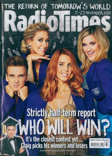 Radio Times Magazine 17 Nov 2018: Faye Tozer Joe Suggs Daniel Mays Louis Theroux