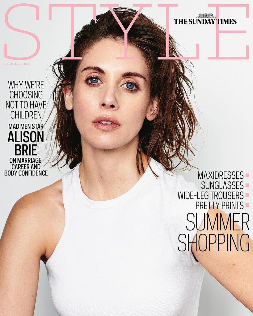Glow! ALISON BRIE PHOTO COVER INTERVIEW UK Style MAGAZINE June 2018