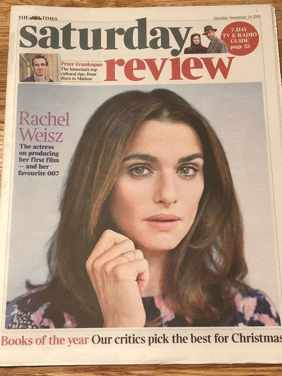 UK Times Review November 2018: RACHEL WEISZ on Daniel Craig COVER INTERVIEW