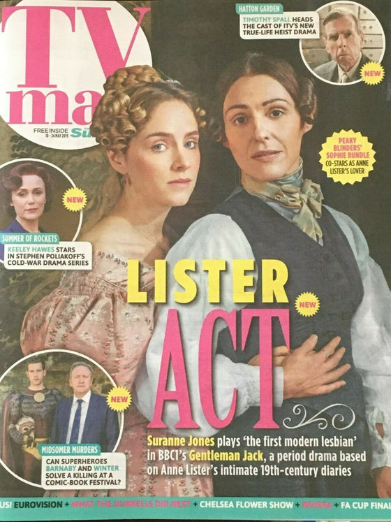 UK SUN TV Magazine May 2019: GENTLEMEN JACK Suranne Jones SOPHIE RUNDLE