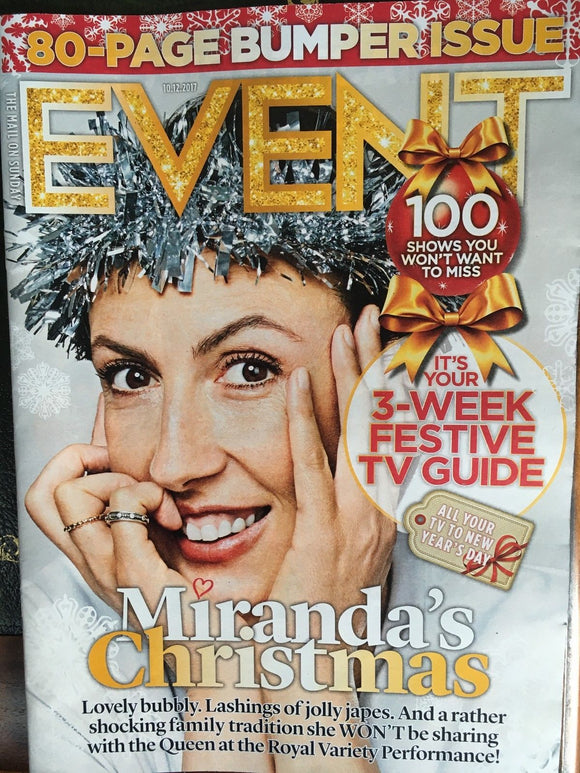 UK Event Magazine 10th December 2017 Miranda Hart Adam Lambert Queen