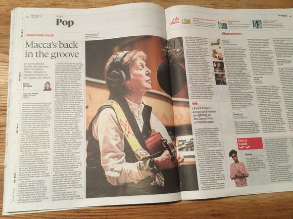UK Observer New Review September 2018: SIR PAUL McCARTNEY feature