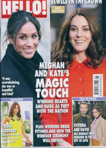 HELLO! magazine 29th January 2018 Meghan Markle Kate Middleton Kylie Minogue