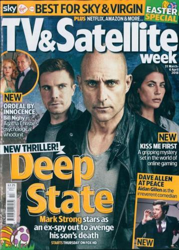 UK TV & Satellite Magazine 31 March 2018 Mark Strong Aidan Gillen Joe Dempsie