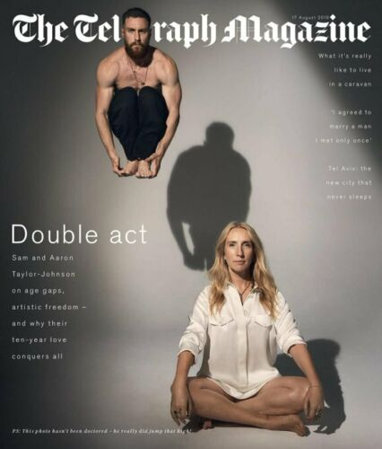 UK TELEGRAPH Magazine 17 August 2019: AARON & SAM TAYLOR-JOHNSON COVER FEATURE