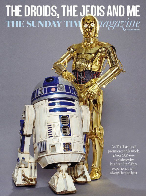 UK Sunday Times Magazine 10th December 2017 RD D2 & C-3PO Star Wars Al Murray