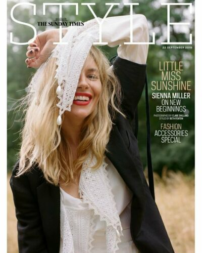 UK Style Magazine September 2019: SIENNA MILLER Emma Thompson EMILIA CLARKE
