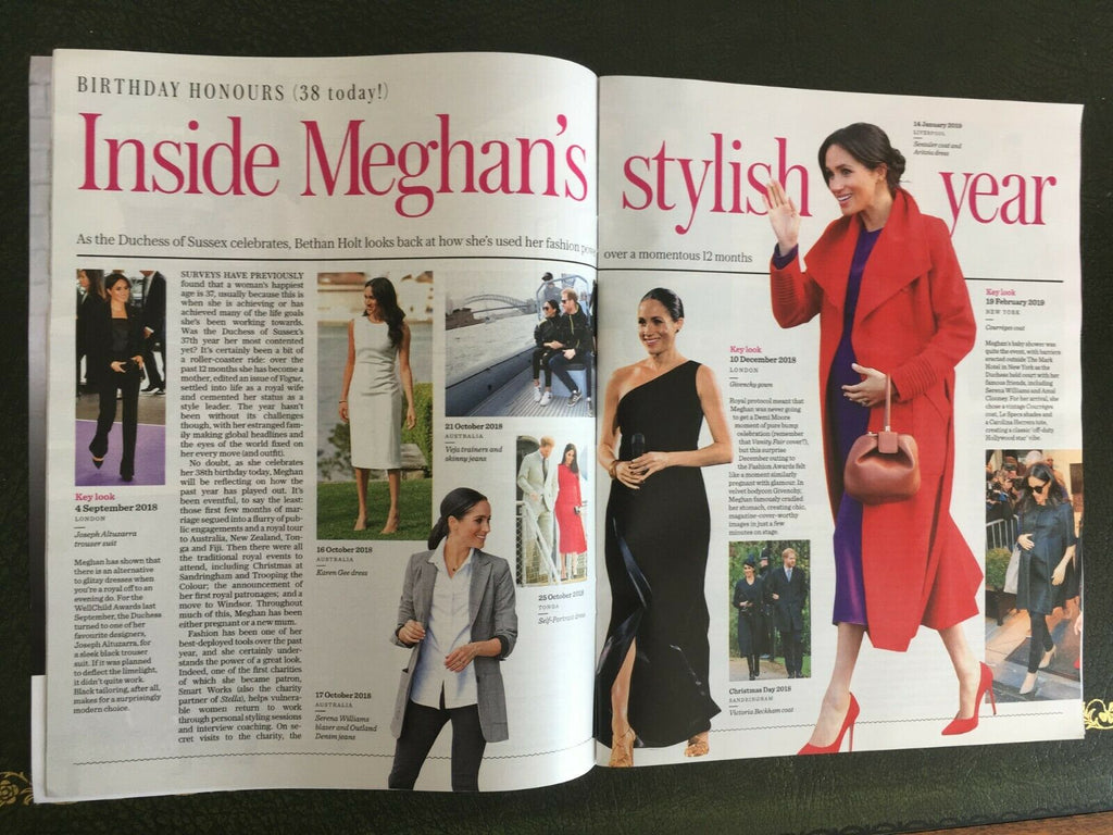 UK Stella Magazine August 2019: MEGHAN MARKLE AT 38 BIRTHDAY FEATURE