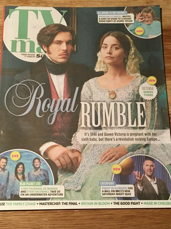 UK TV Magazine 03/2019: JENNA COLEMAN Victoria TOM HUGHES Laurence Fox